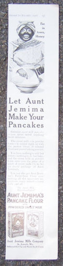 Let Aunt Jemima Make Your Pancakes 1916 LHJ Ad