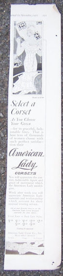 American Lady Corsets 1916 LHJ Advertisement