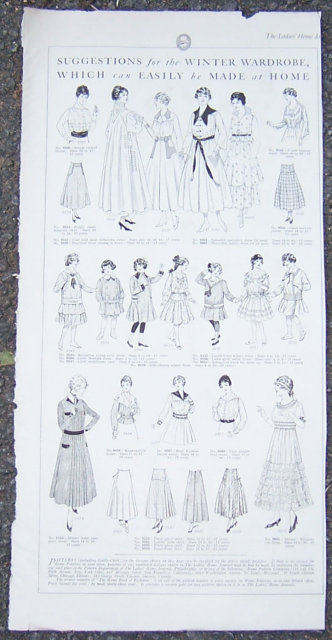 Winter Wardrobe Suggestions Easily Made 1916 LHJ Page