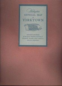 Washington's Official Map of Yorktown Facsimile 1952