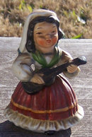 Vintage Little Girl Playing a Guitar Japan Figure