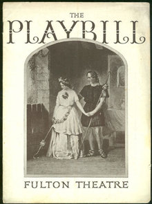 Playbill For One Thing After Another December 1937