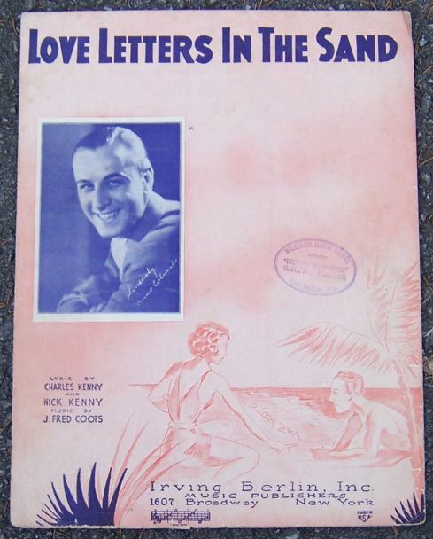 Love Letters in the Sand Sung by Connie Boswell 1931