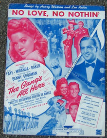 No Love No Nothing Starring Alice Faye 1943 Movie Music