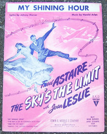 My Shining Hour Starring Fred Astaire 1943 Sheet Music