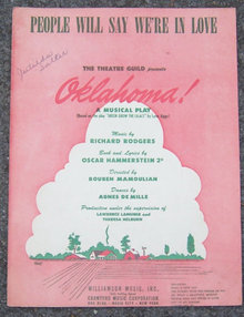 People Will Say We're in Love From Oklahoma Sheet Music