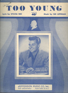 Too Young Sung by Johnny Desmond in 1951 Sheet Music