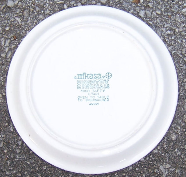 Mikasa China Country Gingham Mint Taffy Small Plate