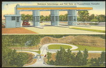 Postcard Entrance Interchange Toll Gate Penn Turnpike