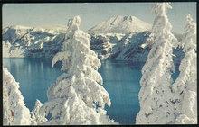 Postcard of Crater Lake, Oregon in Winter Splendor