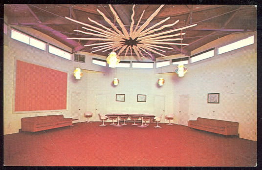 Postcard of Conference Room Ponderosa Inn Burley Idaho