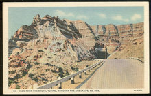 Postcard of View From the South Tunnel Through the Bad Lands, South Dakota