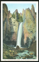 Postcard of Tower Fall and Towers Yellowstone Park