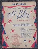 So in Love by Cole Porter Kiss Me Kate 1948 Sheet Music