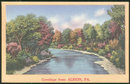 Greetings Postcard from Albion, Pennsylvania 1956