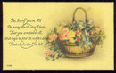 Get Well Postcard with Basket of Flowers