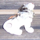 Vintage China Figuirine of a Seated Male Lion