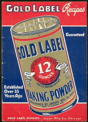 Vintage Gold Label Baking Powder Recipes Booklet