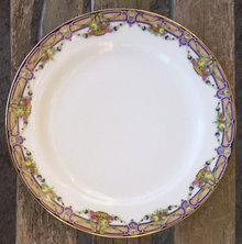 Limoges China Elite Salad Plate with Fruit Basket