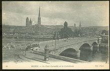 Le Pont Corneille et la Cathedrale, Rouen, France