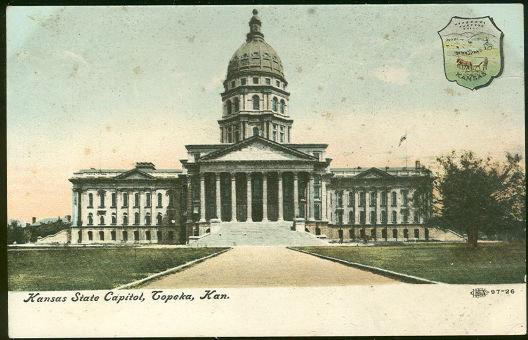 Postcard of Kansas State Capitol, Topeka, Kansas