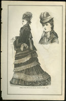 Dress with Velvet Jacket from 1876 Peterson's Magazine