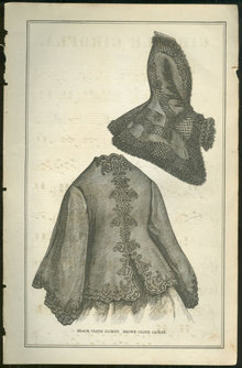 Black Cloth Jacket from 1876 Peterson's Magazine
