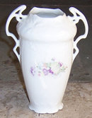 Victorian Small Flower Vase With Lady Standing on Fish