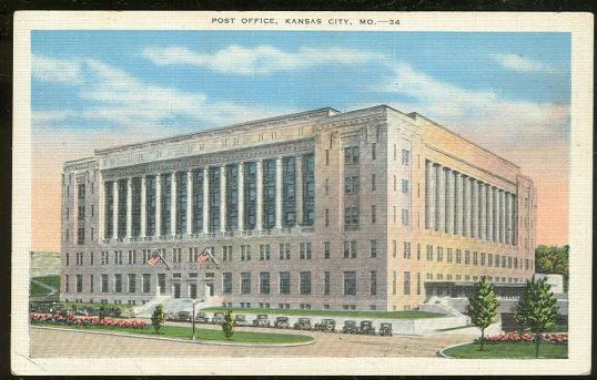 Postcard of Post Office, Kansas City, Missouri
