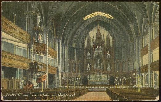 Notre Dame Church, Interior, Montreal, Ontario, Canada