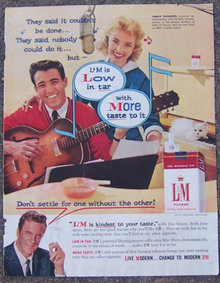 1959 Saturday Evening Post Jimmie Rodgers L & M Ad
