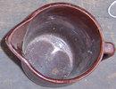 Vintage Brown Glaze Pottery Batter Jug USA