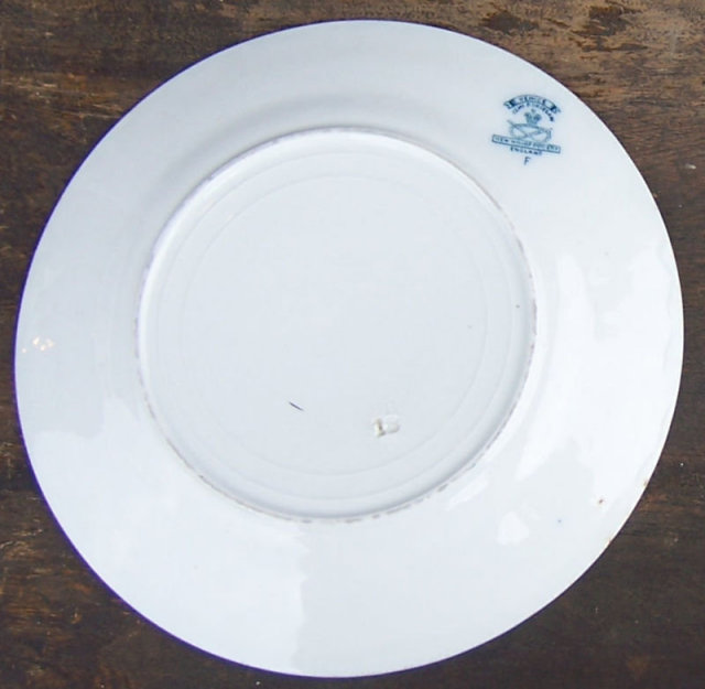 Flow Blue New Wharf Pottery Venice Dinner Plate