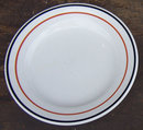 Jackson China Restaurant White and Black Dinner Plate