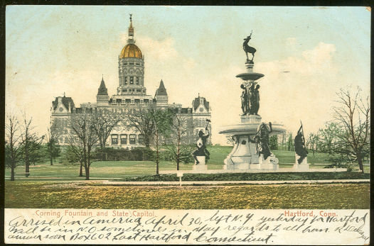 Corning Fountain and State Capitol, Hartford, Connecticut