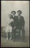 Real Photo Postcard with Father and Two Children