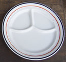 Jackson China Restaurant White and Black Chop Plate