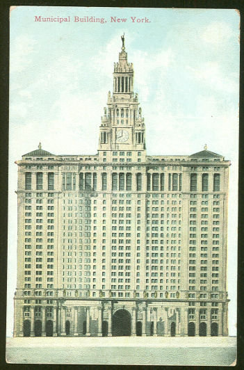 Postcard of Municipal Building, New York City, New York