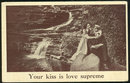 Postcard of Victorian Couple Your Kiss is Love Supreme