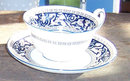 Vintage Wedgwood Floritine Cobalt Cup and Saucer
