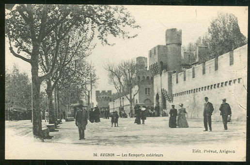 Postcard of Les Remparts Exterleurs, Avignon, France