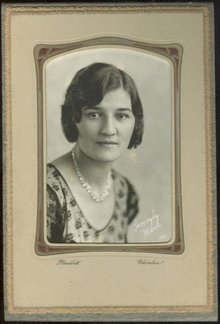 Framed Photograph Lovingly Marie 1931 Cleveland, Ohio