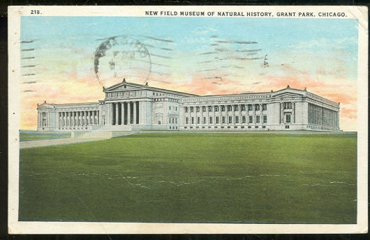 Postcard of New Field Museum of Natural History Chicago