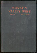 Sunken Valley Pass by Buck Billings 1938 1st edition