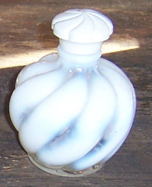 Vintage Wide Swirl DeVilbiss Opalescent Perfume Bottle