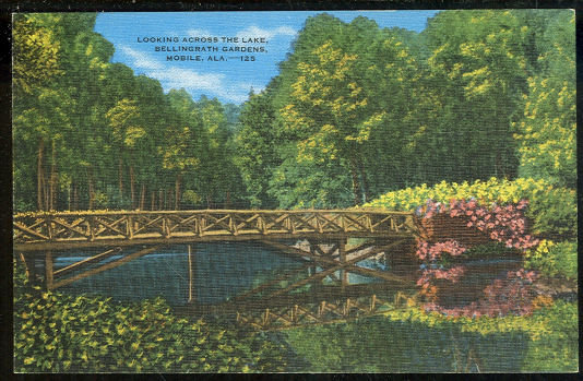 Postcard of Lake, Bellingrath Gardens Mobile, Alabama
