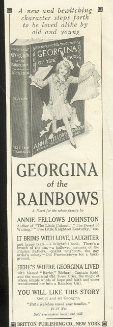 1916 Advertisment for Georgina of the Rainbows Book by Annie Fellows Johnston