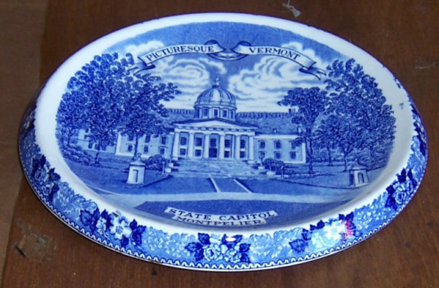 Vintage Staffordshire Pottery Trivet From Vermont
