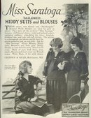 Miss Saratoga Middy Suits 1921 Magazine Advertisement