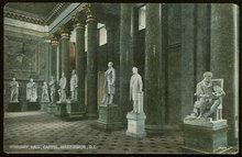 Postcard of Statuary Hall, Capitol, Washington DC